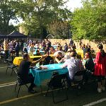 MacLachlan College families at welcome back bbq