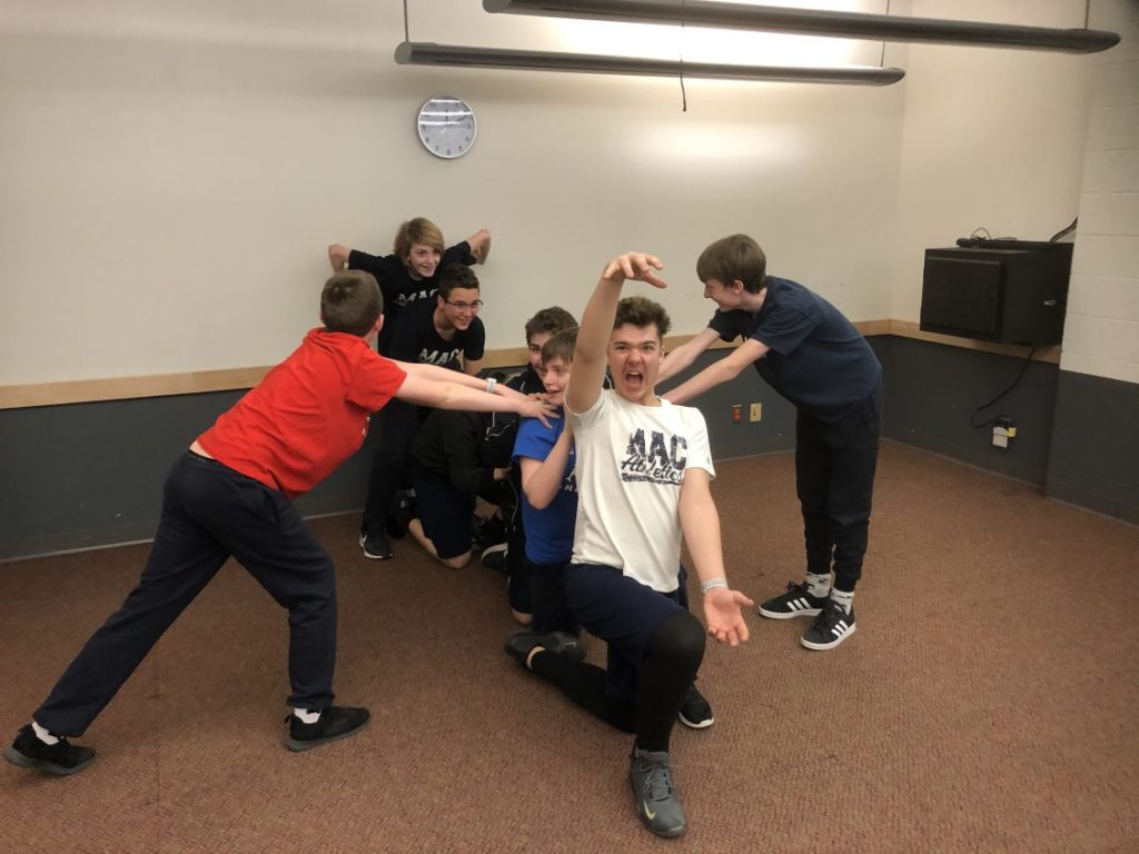 MacLachlan College grade 7 and 8 students acting