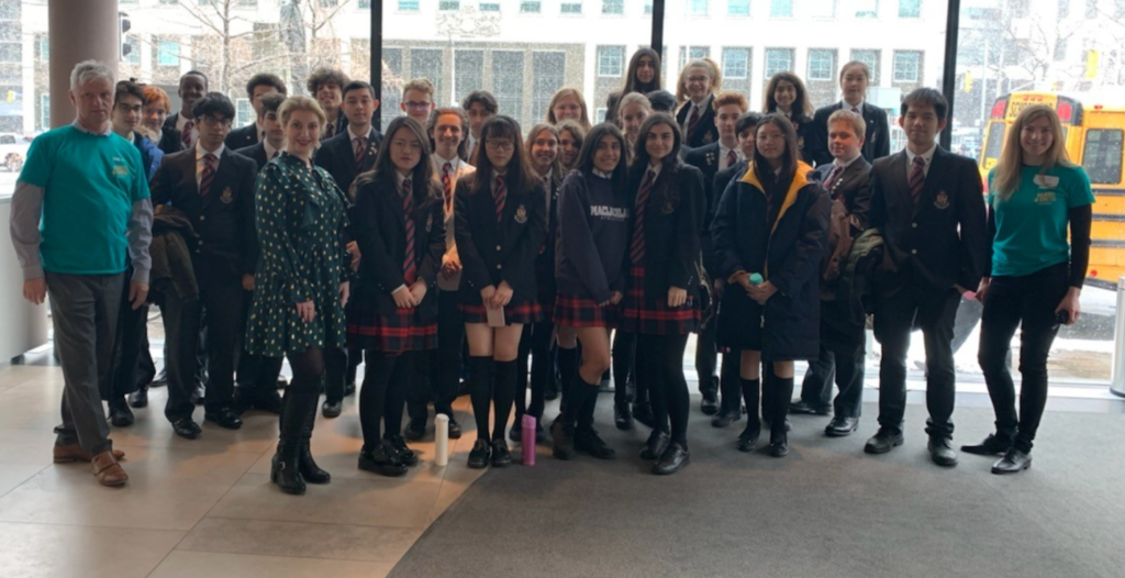 Gr.9-12 MacLachlan College students at the Canadian Opera Company